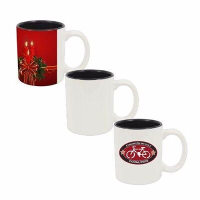 Personalized Coffee Mug Two color inner black 11 oz custom Photo Text logo  - Personalize Mug