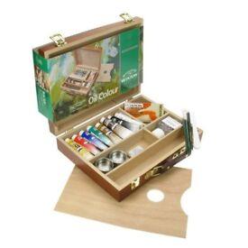 Winsor & Newton Professional Artists Oil Colour Paints Bamboo Box Set, 8 x 37ml Tubes. Brand NEW!!!