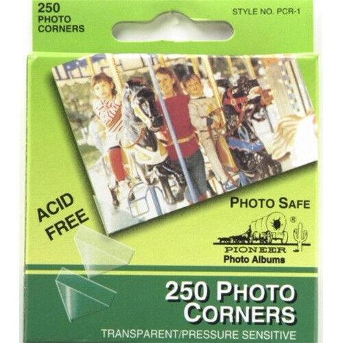 Pioneer Self-Adhesive Clear Photo Corners-250 pk