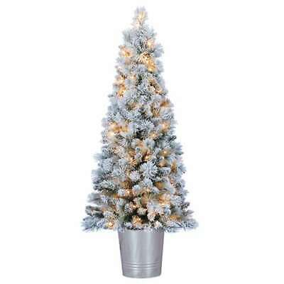 Home Heritage 4.5 Ft PVC Pre Lit Artificial Christmas Tree w/ Stand (For Parts)