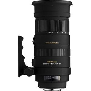 Sigma 50-500mm f4.5-6.3 DG OS HSM Lens For Nikon