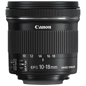 Objectif Canon EF-S 10-18mm F4.5-5.6 IS STM ***NEUF***