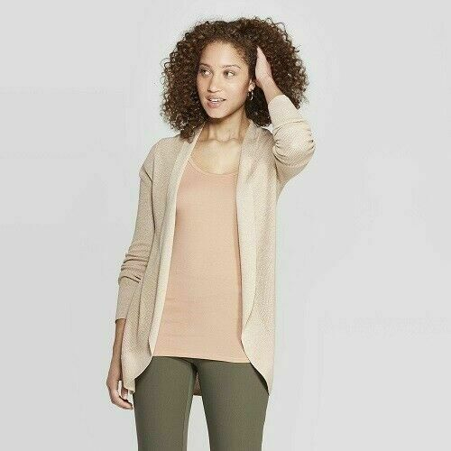 A New Day Women's Open Cardigan – Oatmeal XXL Clothing, Shoes & Accessories