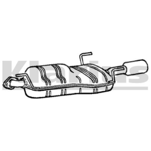 1x KLARIUS OE Quality Replacement Rear / End Silencer Exhaust For VAUXHALL, OPEL