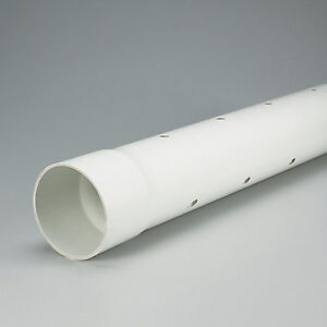 PVC 4 inches x 8 ft PERFORATED/SEPTIC SEWER PIPE