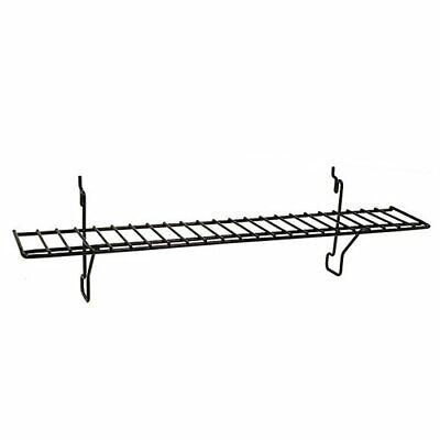 Slatwall Pegboard Gridwall Flat Wire Retail Display Shelf - 4 D X 23 L Black