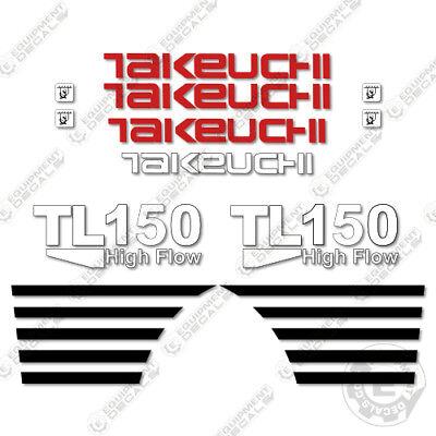 Takeuchi Tl 150 Mini Excavator Decals Equipment Decals Tl150 Tl-150