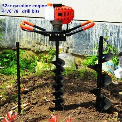 52cc Gas Powered Post Hole Digger Earth Auger W3 Bits12extension Bar