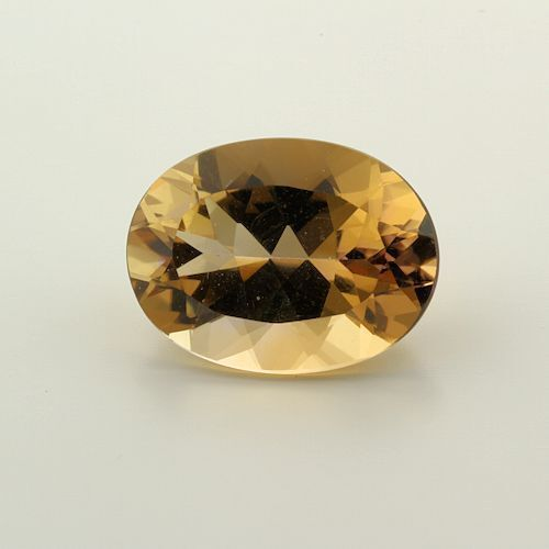 Golden Citrine 16x12mm Oval 8.84ct (One of a Kind Stone)
