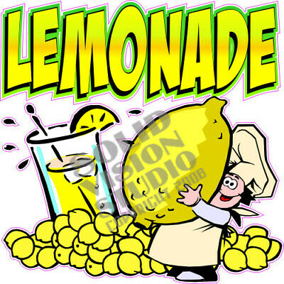 Lemonade Concession Trailer Food Truck Ice Cream Cart Weatherproof Vinyl Decal