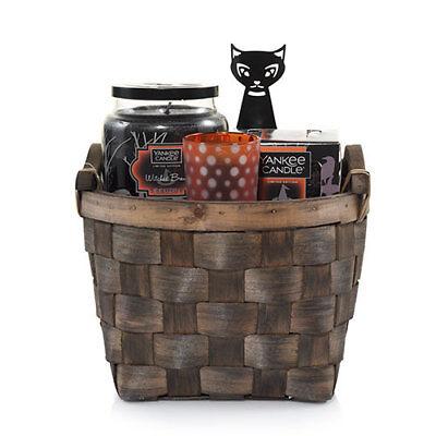 Halloween Treat Gift Baskets (YANKEE CANDLE HALLOWEEN SOPHIA THE CAT TRICK OR TREAT GIFT BASKET)