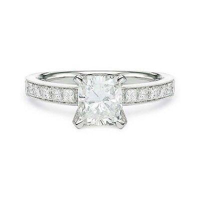2.15 ct H SI1 CUSHION CUT GIA DIAMOND ENGAGEMENT RING