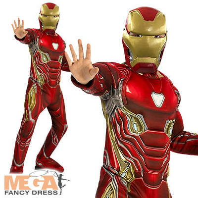 Deluxe Iron Man Boys Fancy Dress Superhero Infinity War Book Kids Childs Costume](Iron Man Costume For Girls)
