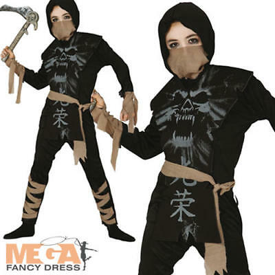 Ghost Ninja Kids Fancy Dress Samurai Zombie Boys - Kids Zombie Ninja Kostüm