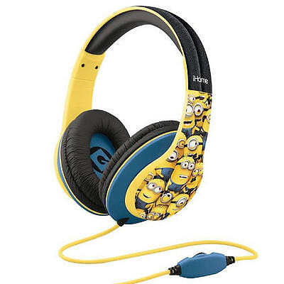 Minions Over The Ear Headphones With Volume Control Refresh Despicable Me Ihome