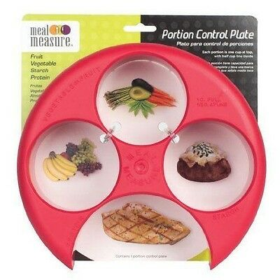 (Meal Measure Portion Control on Your Plate (Red) Diet Weight Loss Healthy Tool)