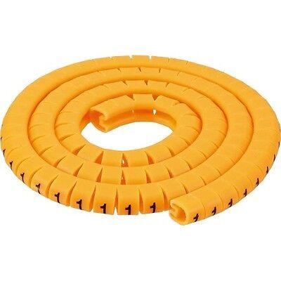 inline® 1000 stück kabel markierung kabelmarkierer 2-3mm nr. 0-9