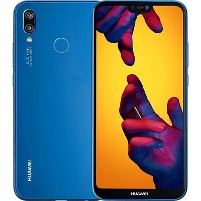"CELLULARE HUAWEI P20 LITE BLUE BLU DUAL SIM 5,8"" 4GB RAM 64GB ITALIA NO BRAND"