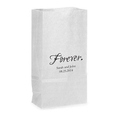 50 Forever Personalized Printed Wedding Favor Bags Candy Buffet