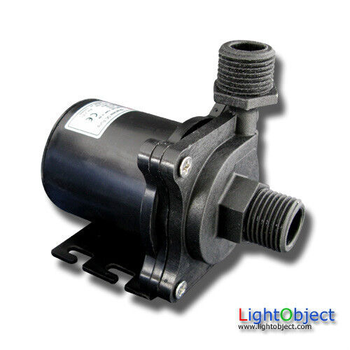 14L/m (220GPH) DC12V Brushless Water  pump w/ 90 degree