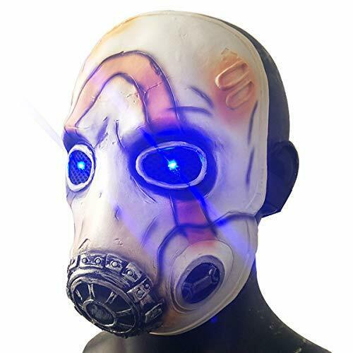 Game Borderlands 3 Psycho Latex Mask Led Light Eyes Scary Ha