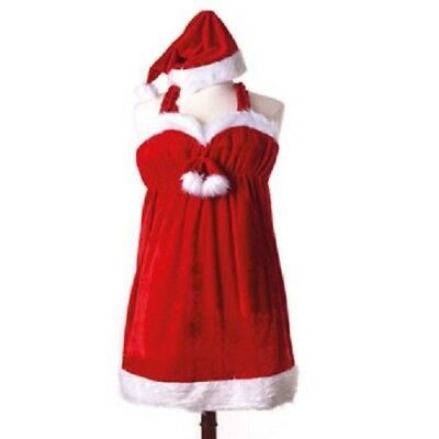 Sexy Weihnachtskostüm für Frauen Lady Santa Minikleid XMAS Einheitsgröße Peküba