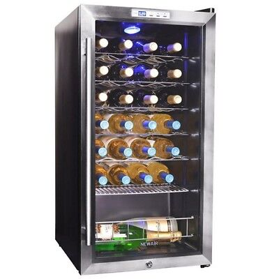 Wine Cooler 27 Bottle Compressor Cooler Cellar Countertop Freestanding Red White