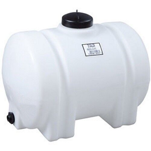 35 Gallon Horizontal Plastic Water Storage Container Tank No