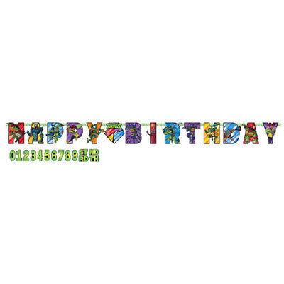 RISE of the TEENAGE MUTANT NINJA TURTLES JUMBO BANNER ~ Birthday Party Supplies - Ninja Turtles Birthday Party Supplies
