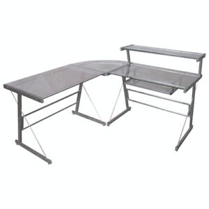 Broderick DKBR100 Glass-Top Corner Desk - NEW IN BOX