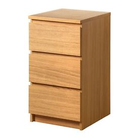 Ikea Malm 3 Drawers 40x78cm £20 oak