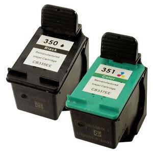 hp 350 351 ink cartridges photosmart for c4380 c4480 ebay. Black Bedroom Furniture Sets. Home Design Ideas