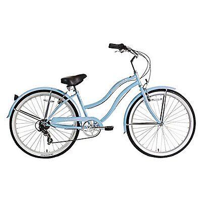 """Micargi 26"""" Pantera 7 speed Lady beach cruiser bicycle bike Baby Blue"""