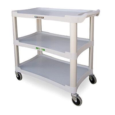 Three Shelf Plastic Utility Cart - 300 Lb. Capacity Charcoal Gray