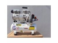 Silent Air Compressor Aflatek 10L Oil Free 65dB 75L/Min 15KG 8Bar mobile compact