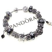 Pandora Bead Black White