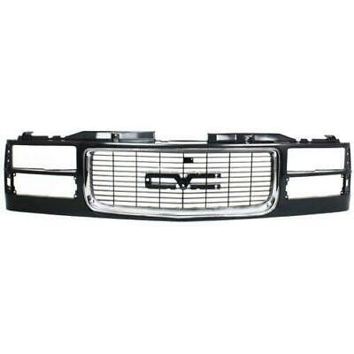 1994-1996 Chevy Suburban Grille, Painted-Black