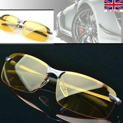 Fashion Night Vision Driving Glasses Yellow Lens Mens Polarized Car (Yellow Sunglasses Men)