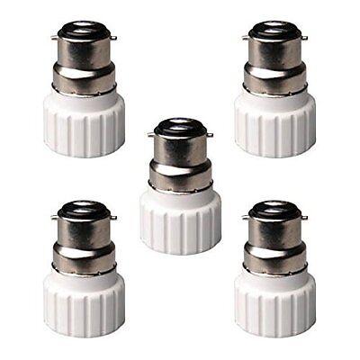 5x Light Bulb Adapter-B22 Bayonet Male To Mini GU10 Socket Converter Cap