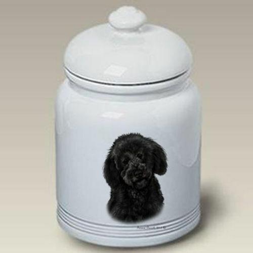 Black Labradoodle Ceramic Treat Jar TB 34314