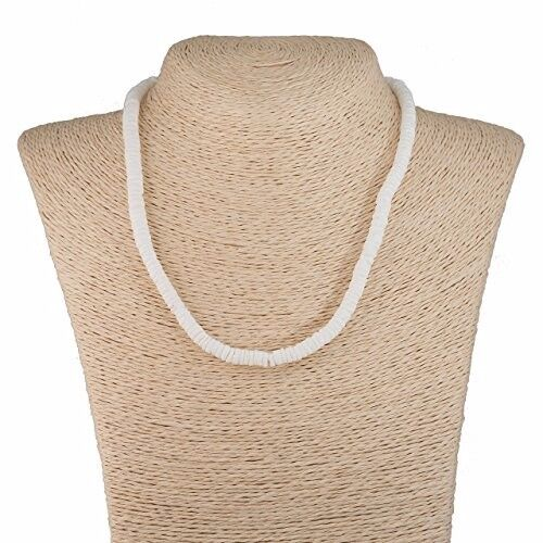 """Beautiful Puka Shell White Smooth Round beads necklace 16"""" US seller NEW"""