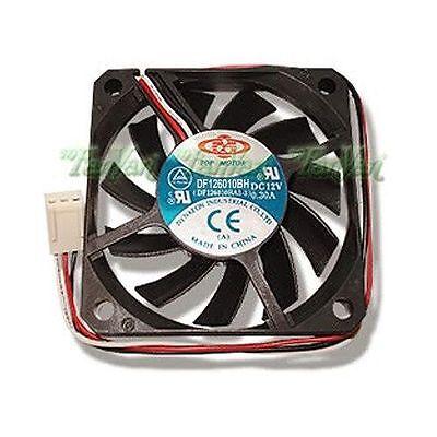 New Top Motor Df126010bh 60mm X 10mm 2 Ball Bearing Fan 3 Pin Tachometer