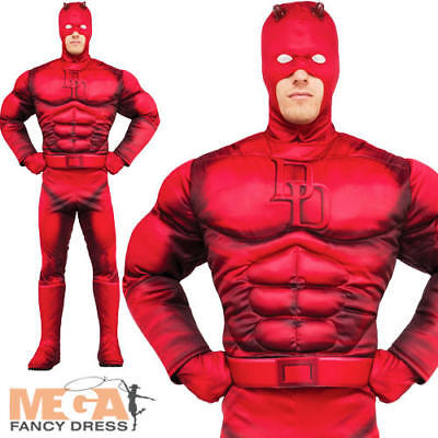 Classic Daredevil Mens Fancy Dress Marvel Book Day Adult Superhero Costume New