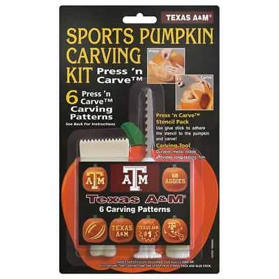 Texas A&M Aggies Halloween Pumpkin Carving Kit patterns - Texas Halloween