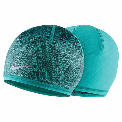 f3c4ba53638 NIKE RUN COLD WEATHER REVERSIBLE BEANIE HAT CACTUS SEAWEED WOMEN S FITS MOST