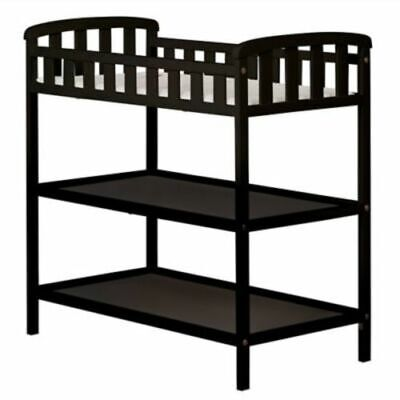 Dream On Me Emily Baby Changing Table with Changing Pad Includes - Black