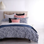 Cotton Sateen Floral Three-Piece Quilt Covers