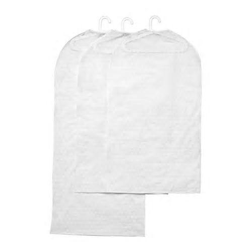 IKEA PLURING Set 3 Clothes suit dress protector covers Transparent White color