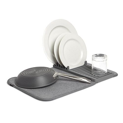 Dish Drying Rack and Mat In One,Kitchen Tray and Sink,Super