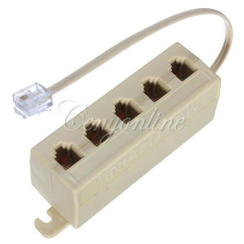 Telephone splitter ebay for Cable de telephone exterieur